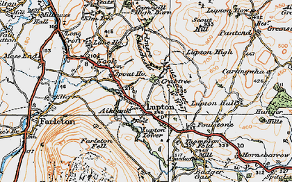 Old map of Badger Gate in 1925