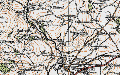 Old map of Yalland in 1919