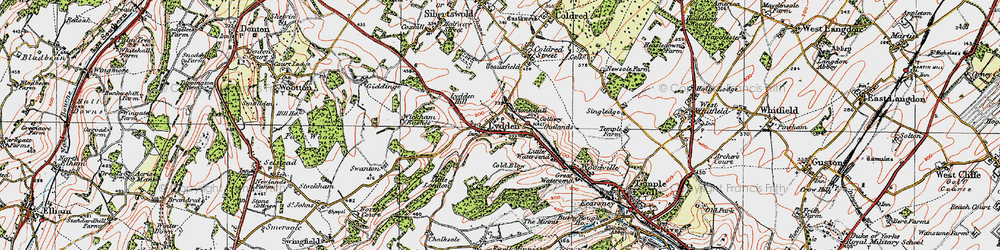 Old map of Wickham Bushes in 1920