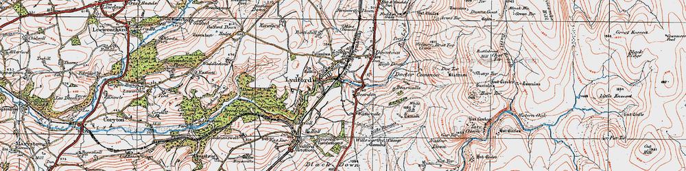 Old map of Willsworthy Range in 1919