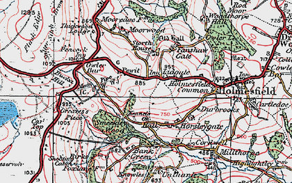 Old map of Lydgate in 1923