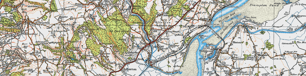 Old map of Lydney in 1919