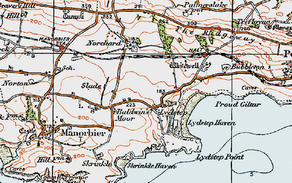 Old map of Lydstep in 1922