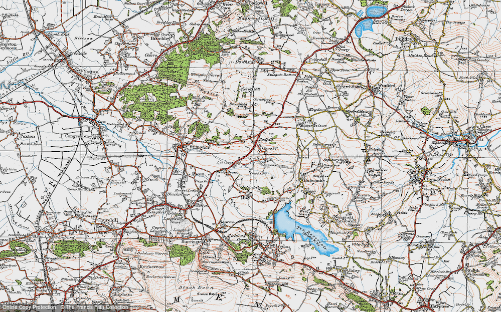 Old Map of Historic Map covering Aldwick Court in 1919