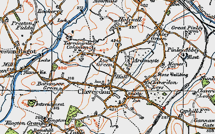 Old map of Ardencote Manor Hotel in 1919
