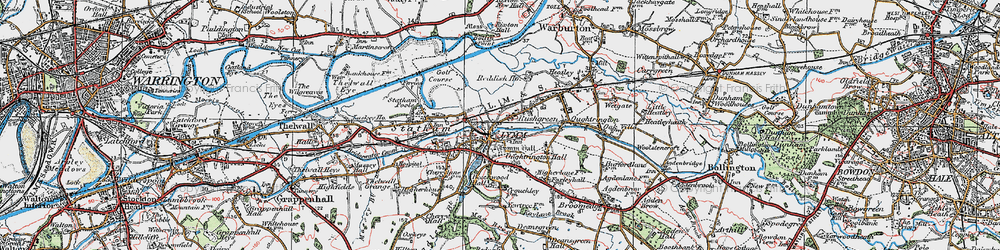 Old map of Lymm in 1923