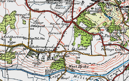 Old map of Lympne in 1920
