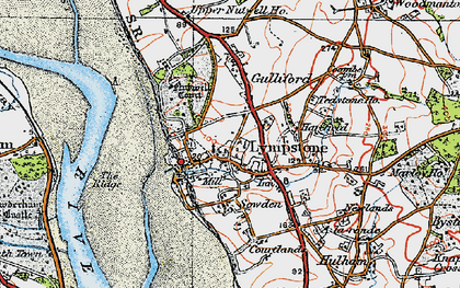 Old map of Lympstone in 1919