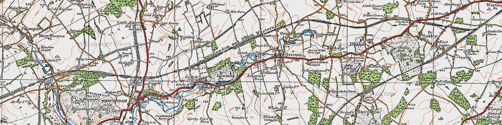 Old map of Laverstoke Ho in 1919
