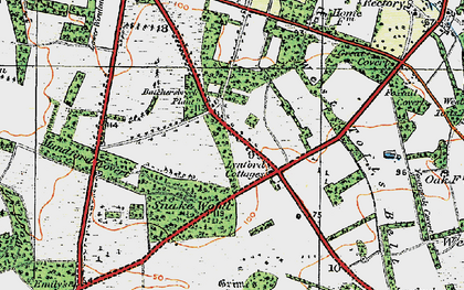 Old map of Lynford in 1920