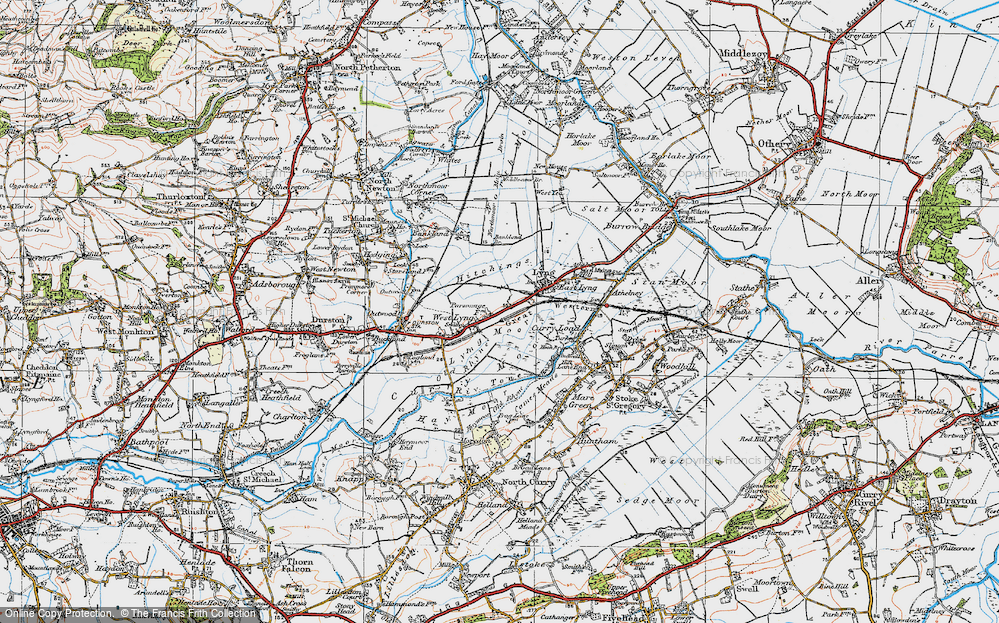 Old Map of Historic Map covering Bankland Br in 1919