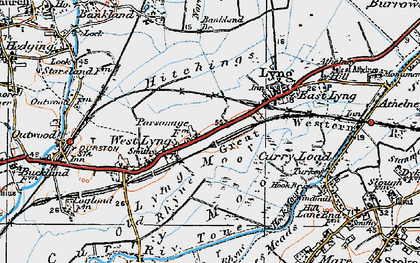 Old map of Bankland Br in 1919