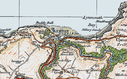 Old map of Wind Hill in 1919