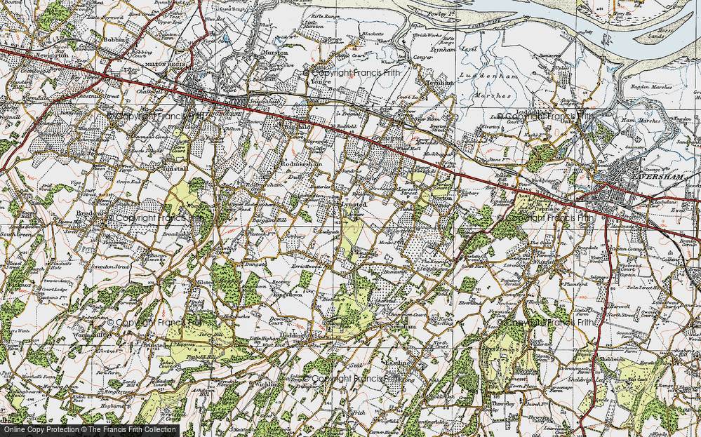 Old Map of Historic Map covering Aymers in 1921