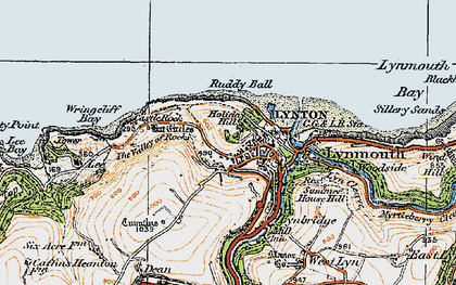 Old map of Wringcliff Bay in 1919