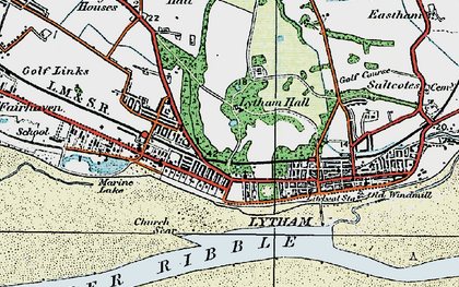 Old map of Banks Sands in 1924