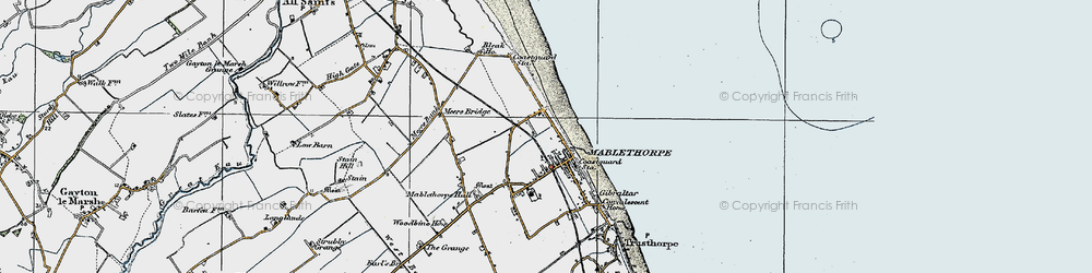 Old map of Mablethorpe in 1923