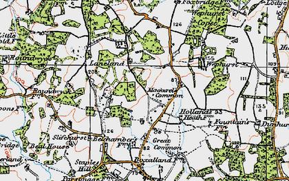 Old map of Lanelands in 1920