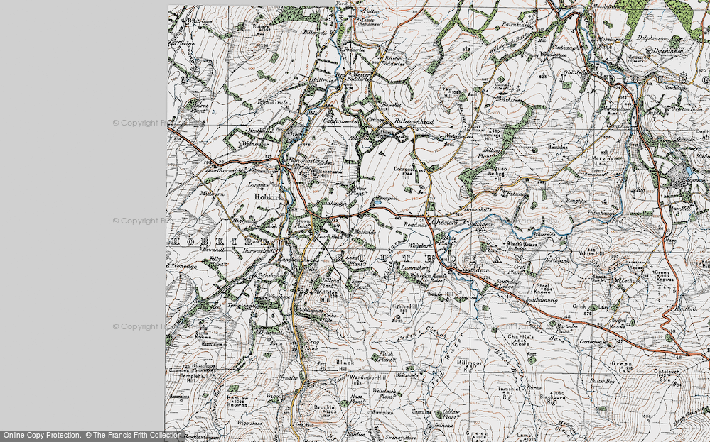 Old Map of Historic Map covering Abbotrule in 1926