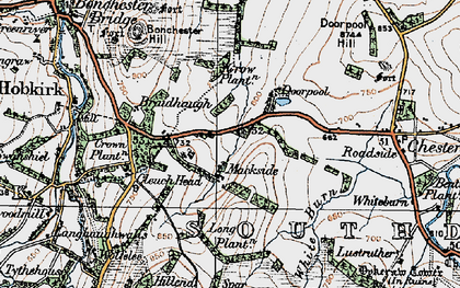 Old map of Abbotrule in 1926