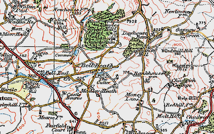 Old map of Madeley Heath in 1921