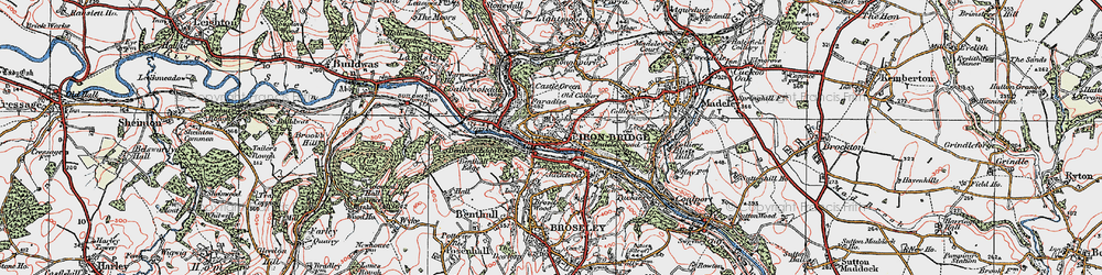 Old map of Madeleywood in 1921