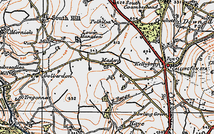 Old map of Maders in 1919