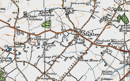 Old map of Madley in 1920