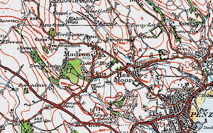Old map of Trengwainton Ho in 1919