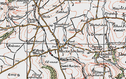 Old map of Maenclochog in 1922