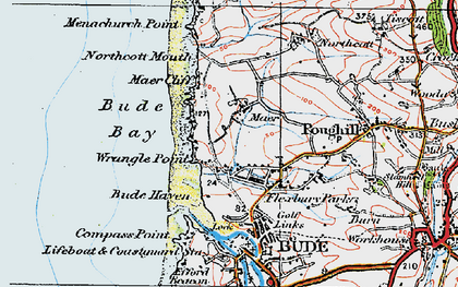 Old map of Maer in 1919