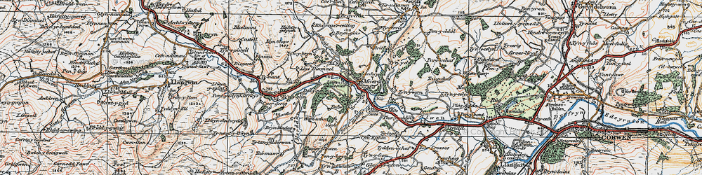 Old map of Maerdy in 1922