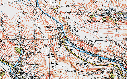 Old map of Afon Rhondda Fach in 1923