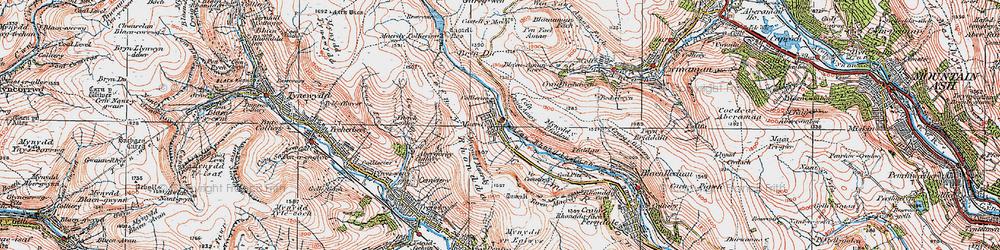 Old map of Afon Rhondda Fach in 1923