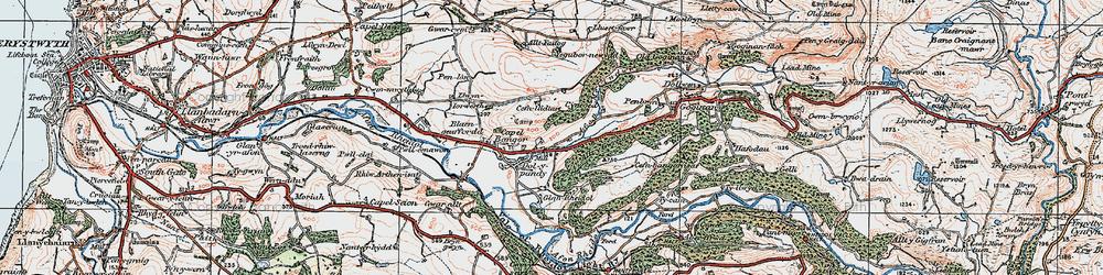 Old map of Allt y Gwreiddyn in 1922