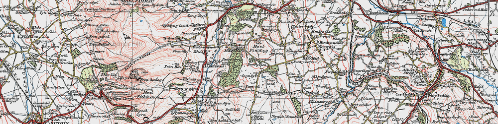 Old map of Tir-y-coed in 1924