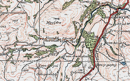 Old map of Allt Cynhelyg in 1923