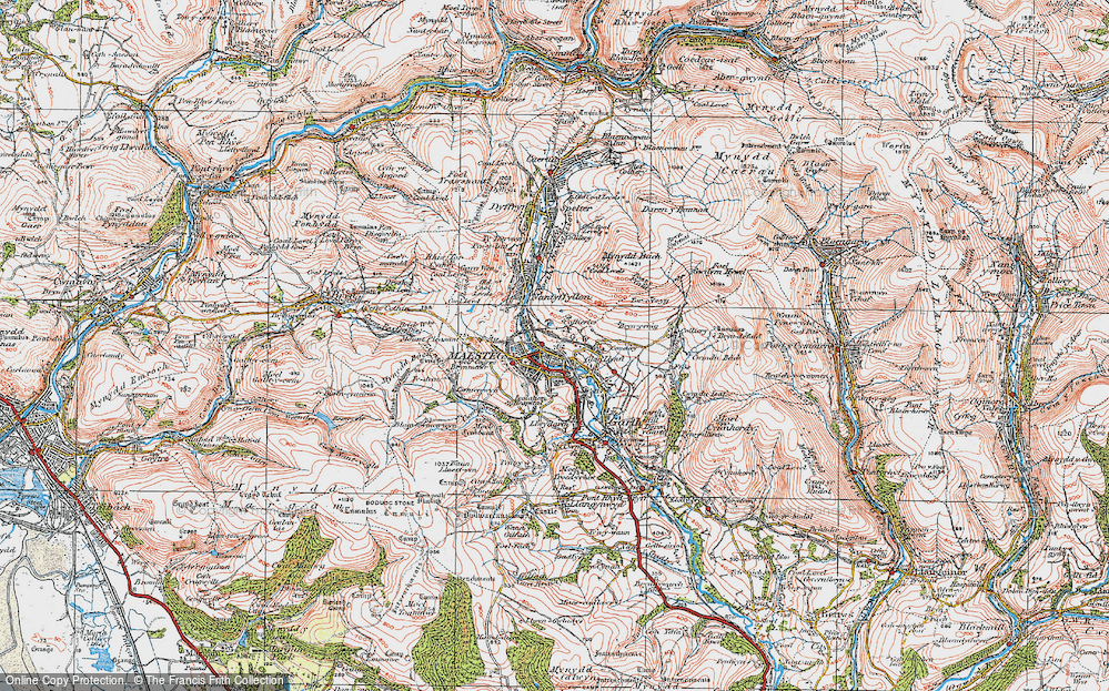 Old Map of Maesteg, 1922 in 1922