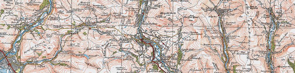 Old map of Maesteg in 1922