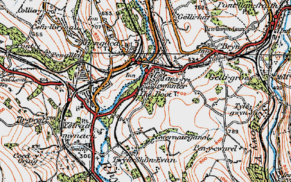 Old map of Maesycwmmer in 1919