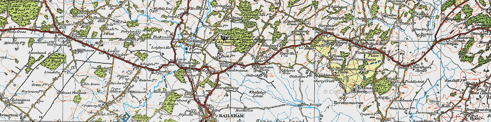 Old map of Whelpley Level in 1920