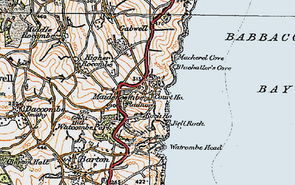 Old map of Maidencombe in 1919