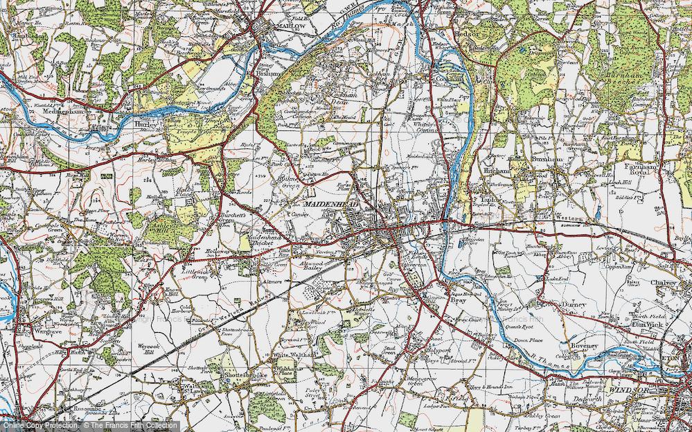 Map Of Maidenhead Map of Maidenhead, 1919   Francis Frith Map Of Maidenhead