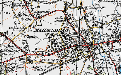 Old map of Maidenhead in 1919