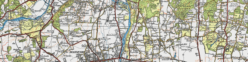 Old map of White Brook in 1919