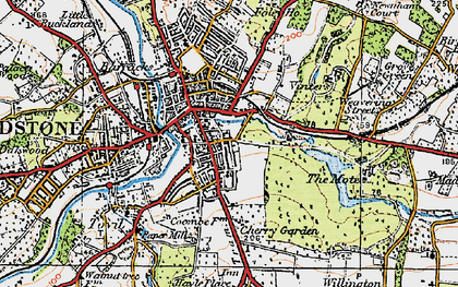 Old map of Maidstone in 1921