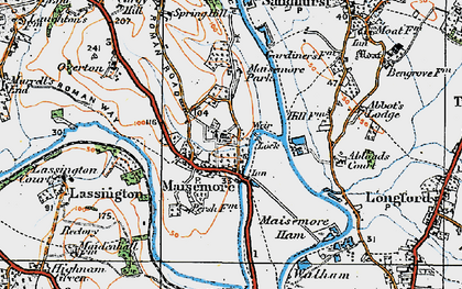 Old map of Abbot's Lodge in 1919