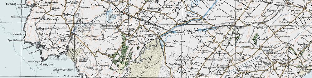 Old map of Malltraeth in 1922