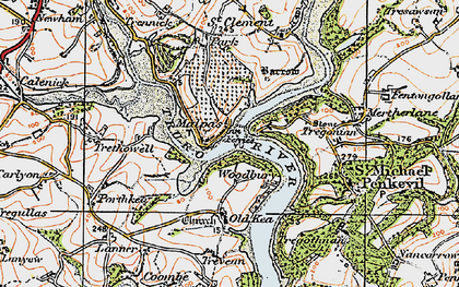 Old map of Malpas in 1919
