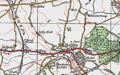 Old map of Maltby in 1923